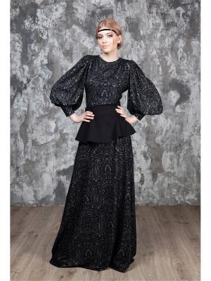 Блузка Рей Sahera Rahmani. Цвет: серебристый, черный