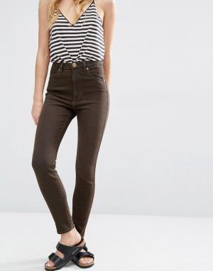 Rollas Укороченные джинсы скинни с завышенной талией Eastcoast. Цвет: синий