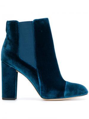 Ботинки челси на каблуке Sam Edelman. Цвет: синий