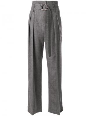 Строгие брюки с поясом Iro. Цвет: серый