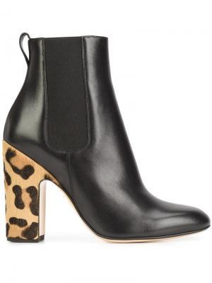 Ботинки на контрастном каблуке Francesco Russo. Цвет: чёрный