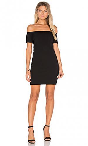 Платье со спущенными плечами cecil Line & Dot. Цвет: черный