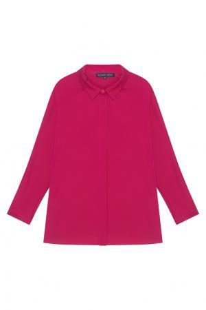 Шелковая блузка Alexander Terekhov. Цвет: фуксия