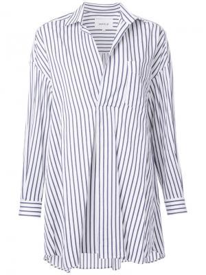 Рубашка в полоску Enföld. Цвет: белый