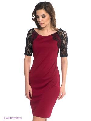 Платье BSB. Цвет: бордовый, черный