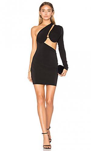 Мини платье с асимметричным подолом warriors keeper BEC&BRIDGE. Цвет: черный