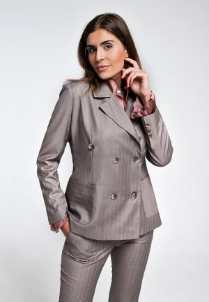 Пиджак Elena Andriadi. Цвет: бежевый