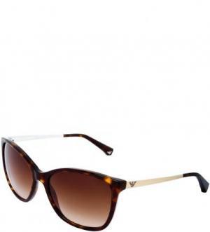 Солнцезащитные очки с градиентными линзами Emporio Armani. Цвет: коричневый