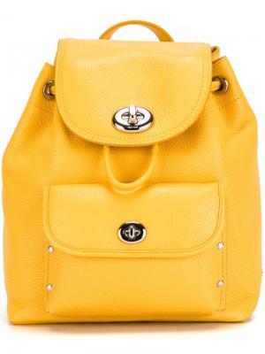Маленький рюкзак с откидным клапаном Coach. Цвет: жёлтый и оранжевый