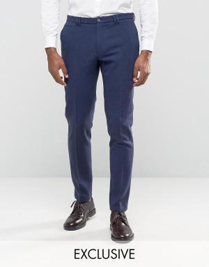 Noak Зауженные брюки с отворотами. Цвет: темно-синий