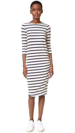 Платье Basic ElevenParis. Цвет: белый/темно-синий