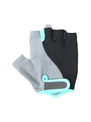 Перчатки для фитнеса STARFIT SU-117,. Цвет: черный, серый, голубой