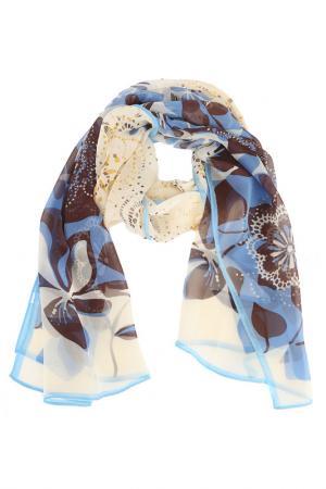 Шарф F.FRANTELLI. Цвет: голубой, коричневый