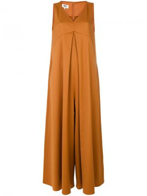 Комбинезон с широкими брючинами Mm6 Maison Margiela. Цвет: жёлтый и оранжевый