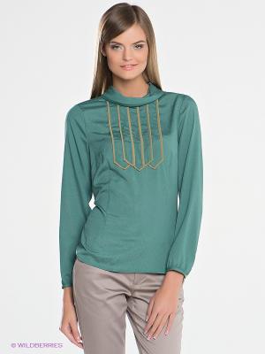 Блузка SILVIAN HEACH. Цвет: зеленый