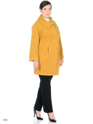 Пальто демисезонное Феникс XP-GROUP. Цвет: желтый