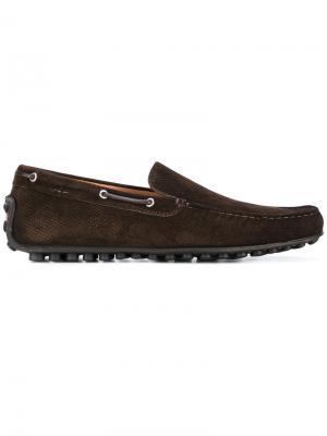 Палубные туфли Fabi. Цвет: коричневый