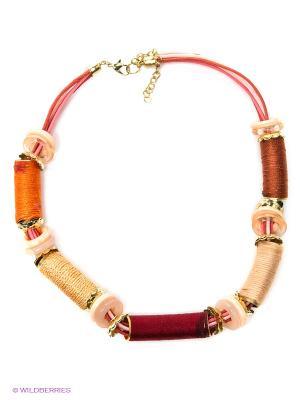 Ожерелье ГАНГ. Цвет: золотистый, красный