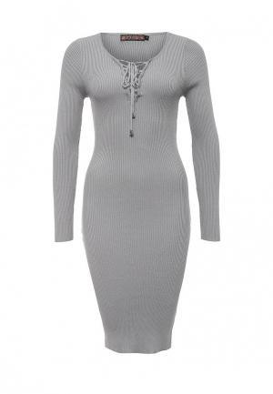 Платье QED London. Цвет: серый
