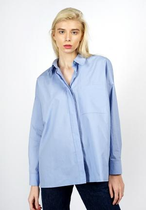 Рубашка BURLO. Цвет: голубой
