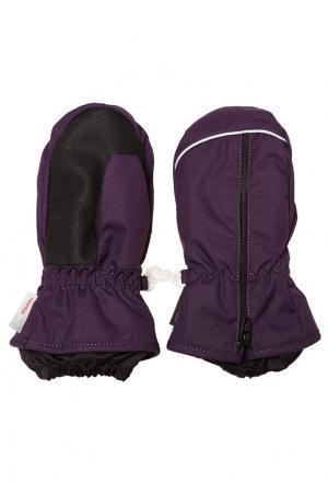 Фиолетовые варежки на молнии Reima. Цвет: фиолетовый