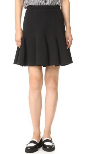 Плиссированная юбка Carven. Цвет: голубой