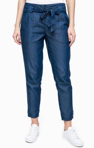 Зауженные джинсовые брюки TOM TAILOR. Цвет: синий