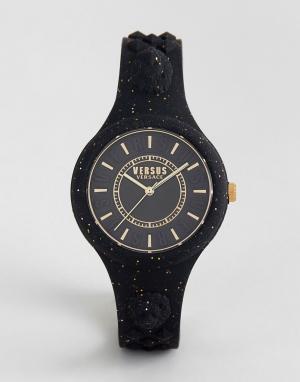 Versus Versace Черные часы с силиконовым ремешком и блестками SPOQ16 F. Цвет: черный
