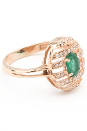 Кольцо RUSGEMS. Цвет: зеленый