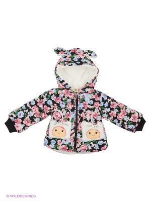 Куртка на синтепоне Kidly. Цвет: бледно-розовый, кремовый, антрацитовый
