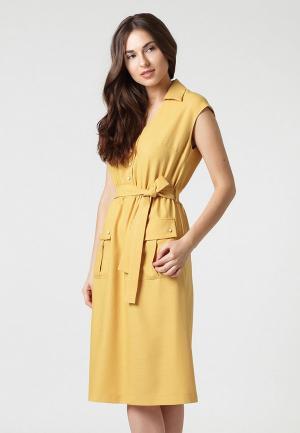 Платье Lova. Цвет: желтый