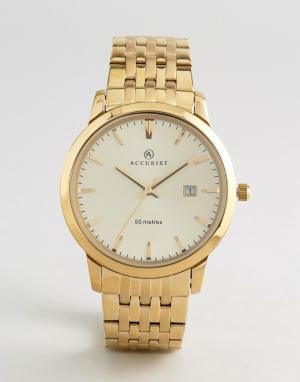 Accurist Золотистые часы-браслет 7019. Цвет: золотой