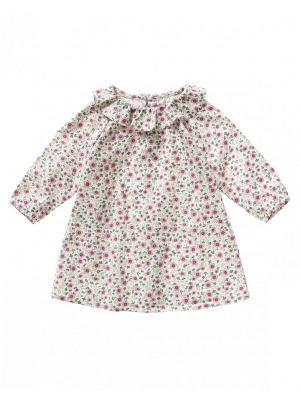 Платье United Colors of Benetton. Цвет: бледно-розовый, кремовый, серо-зеленый