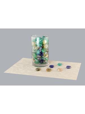 Набор декоративных камешков Бабочки/Оранжевая роза EL CASA. Цвет: синий, зеленый, оранжевый