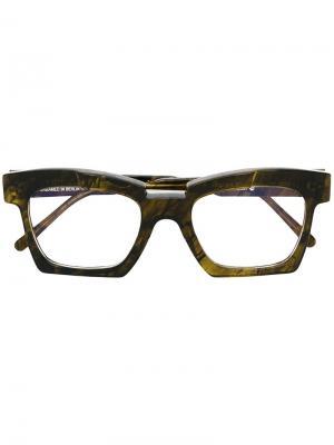 Солнцезащитные очки Kuboraum. Цвет: зелёный
