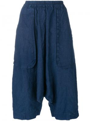 Cropped drop-crotch trousers Rundholz Black Label. Цвет: синий