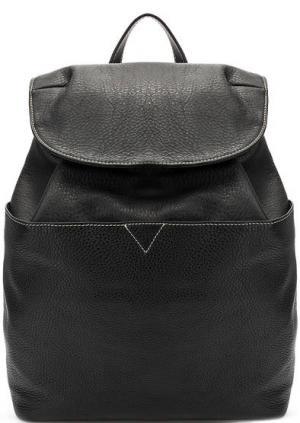 Вместительный рюкзак из натуральной кожи Io Pelle. Цвет: черный