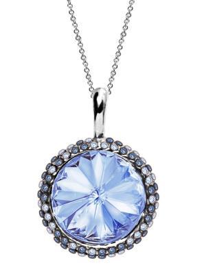 Кулон Enigme с лавандовыми кристаллами Swarovski Mademoiselle Jolie Paris. Цвет: лазурный, морская волна, бирюзовый, серо-голубой, серый, голубой, светло-голубой, серебристый, сиреневый, светло-серый, серый меланж