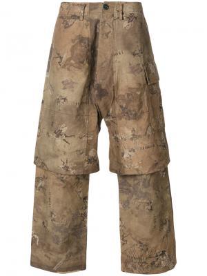 Многослойные брюки с графическим принтом Ziggy Chen. Цвет: многоцветный