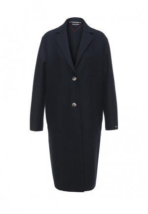 Пальто Tommy Hilfiger. Цвет: синий