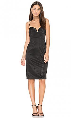 Платье с металлическим отливом alexandra Bardot. Цвет: черный