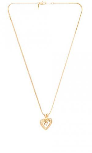 Ожерелье с подвесками nora Vanessa Mooney. Цвет: металлический золотой