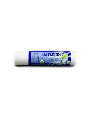 Бальзам для губ Мята Organic Fiji. Цвет: белый
