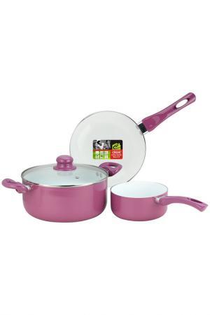 Набор посуды Calve. Цвет: сиреневый