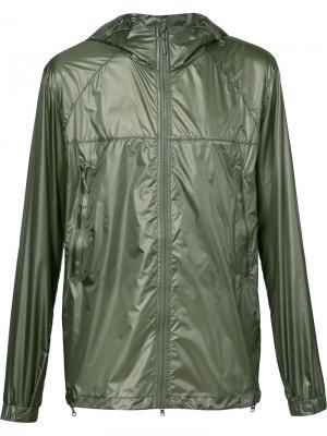 Куртка на молнии с капюшоном Canada Goose. Цвет: зелёный