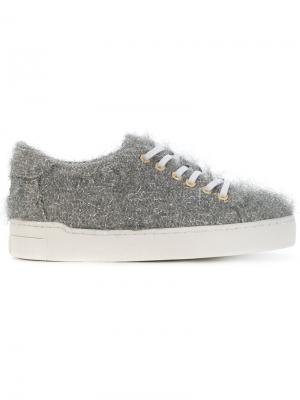 Кроссовки на шнуровке Suecomma Bonnie. Цвет: серый