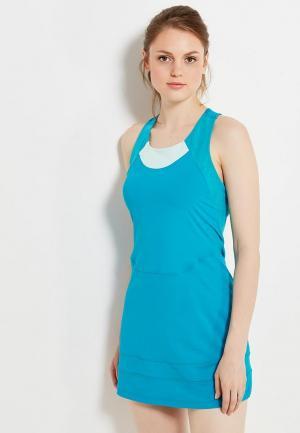 Платье ASICS. Цвет: голубой