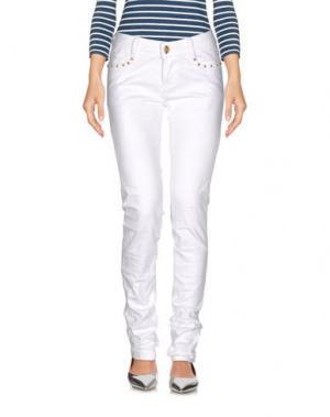 Джинсовые брюки CUSTO BARCELONA. Цвет: белый