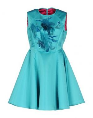 Короткое платье IVAN MONTESI. Цвет: бирюзовый