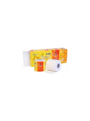 Бумага туалетная с ароматом Ромашки 10 рулонов/упаковка Maneki. Цвет: белый